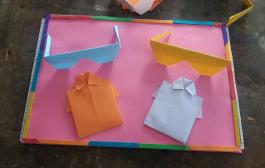 """"""" فن الاوريجامى"""" لتشكيل الورق"""